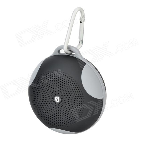 B01 Bluetooth V2.1 Speaker w/ Handsfree Call / FM / TF / Mic - Black + Grey (16GB Max.) t050 3w mini portable retractable stereo speaker w tf black golden 16gb max