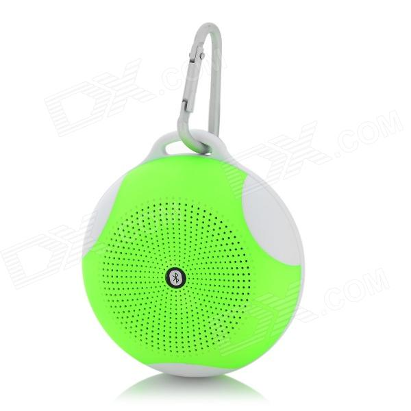 B01 Bluetooth V2.1 Speaker w/ Handsfree Call / FM / TF / Mic - Fluorescent Green + White (16GB Max.)