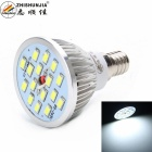 E14 8W 480lm bulbo de lámpara blanco fresco de 16-SMD 5630 LED (ac 85 ~ 265V)