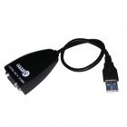 WBTUO Ultra-high-speed USB 3.0 Male to VGA Female External Graphics Adapter Converter - Black