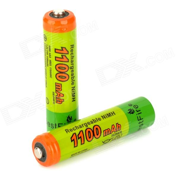 BestFire Rechargeable 1.2V 1000mAh Ni-MH AAA Battery - Green (2PCS) 8pcs pkcell battery aaa pre charged nimh 1 2v 1200mah ni mh 3a rechargeable batteries up to 1000mah capacity cycle 1200times