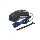 WFirst X9000-M USB filaire 3600dpi Gaming Mouse-noir + argent (190cm-Cable)