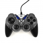 Fashionable Dual-shock USB Vibration Gamepad Game Controller for PC Games - Grey