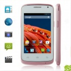 G7106i MTK6572 Dual Core Android 4.2 GSM Bar Phone w/ 3.5'', GPS, Wi-Fi, FM - Pink + Silver