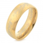 """The One Ring"" Style 316L Stainless Steel Ring - Golden (U.S Size: 7.5)"