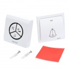 Linptech LinbellG1 LB100SW Self-generating Wireless Waterproof Door Bell + Wireless Receiver - White