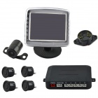 "PZ601-B 3.5"" TFT Rearview Mirror + Camera + Parking Sensor / Radar Kit (12V)"