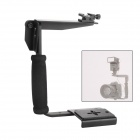 DUALANE Quick-Flip Flash Bracket Mount Light Shoe Holder for DSLR Camera / Speedlight - Black