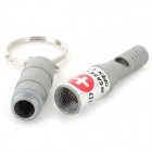 Emergency / Suvival Waterproof Aluminum Alloy Whistle for Climbing / Camping / Cycling - Silver Grey