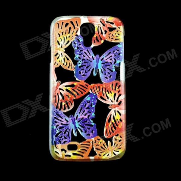A1LJ Butterfly Pattern Protective Plastic Back Case for Samsung Galaxy S4 i9500 -Purple + Red cool basketball skin pattern silicone protective back case for samsung galaxy s4 i9500 black red