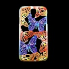 Butterfly Pattern Protective Plastic Back Case for Samsung Galaxy S4 i9500 -Purple + Red