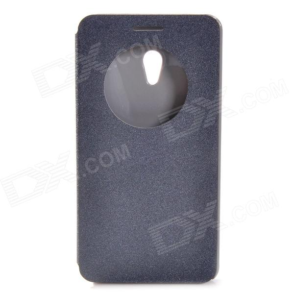 Protective PU Leather + Plastic Case for ASUS ZenFone 6 - Black