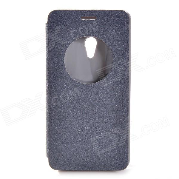 Protective PU Leather + Plastic Case for ASUS ZenFone 5 - Black