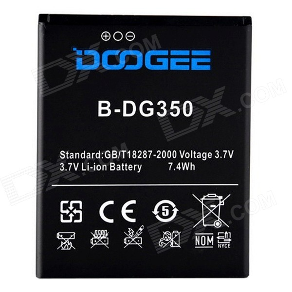 DOOGEE Replacement 2200mAh 3.7V Li-ion Battery for Doogee Pixels DG350 - Black keoghs motorcycle front shock absorbers front fork tube suspension 26mm 27mm for yamaha scooter jog rsz force