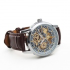 CJIABA 1033 Men's Self-Winding Skeleton Wrist Watch - Brown + Silver