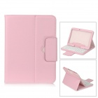 SM005 PU Case w/ Detachable USB Bluetooth V3.0 64-Key Keyboard for Samsung Galaxy Note10.1 - Pink