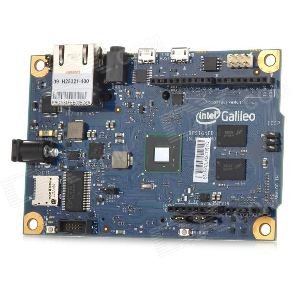 Intel Galileo X86 Development Board + Charging Adapter Module + Power Adapters - Deep Blue modules genuine for intel galileo gen 2 development board quark soc x1000 400mhz 256m compatible with arduino uno r3 shield