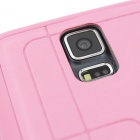 Stylish Flip-Open PU + TPU Case w/ Stand / Display Window / Wake Up for Samsung Galaxy S5 - Pink