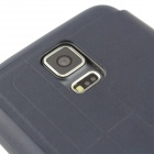 Flip-Open PU + TPU Case w / stand / Display Window / Wake Up voor Samsung Galaxy S5 - Deep Blue