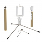 Selfie Retractable Remote Rod w/ Tripods / Phone Holder for IPHONE / Samsung + More - Champagne Gold