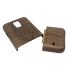 Tree Pattern Detachable Protective Wood Back Case for Samsung Galaxy S5 - Coffee + Brown