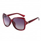 Reedoon Women's PC Frame Resin Lens UV400 Protection Polarized Sunglasses - Bordeaux Red