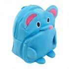 Children's Cute Cartoon Elephant Flannelette Backpack - Blue