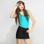 Catwalk88 Women's Summer Denim Skirt Pack Hip Short Dress - Black (L)