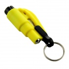 Seeworld AQ001 Glass Breaker & Seatbelt Cutter Car Escape Rescue Tool Keychain - Yellow