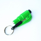 Seeworld AQ001 Glass Breaker & Seatbelt Cutter Car Escape Rescue Tool Keychain - Green