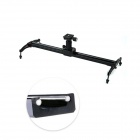 POPLAR Mini 0.6m Aluminum Alloy Panning Track Slider for SLR Cameras - Black