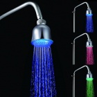 7-Color Bell-shaped Temperature Controlled LED Light Top Spray Bathroom Shower Heads