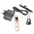 "Portable 0.7"" LCD Mini Rechargeable Digital Voice Recorder MP3 Player - Golden (8GB)"