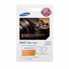 Samsung Electronics EVO SDHC SD minneskort - Orange + vit (32GB / klass 10)