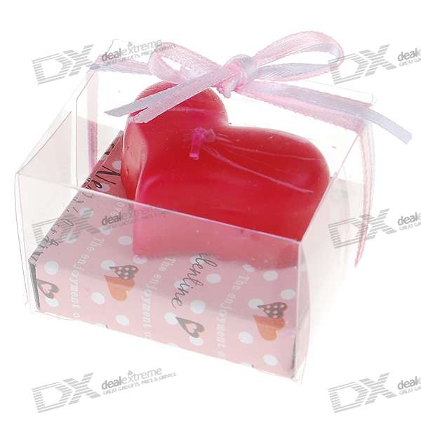 Fragrance Releasing Charming Heart Wax Candle (Assorted Color)