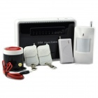 Quad-Band GSM Smart Home Burglar Security Alarm System w/ Detector Sensor / Remote Control