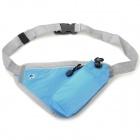 Outdoor Sports Close-fitting Water Bottle Waist Pack Bag w/ Zipper - Blue + Grey