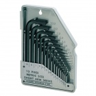 Pro'skit 8PK-02730-in-1 SAE6150 Metric / Inch Combination Hex Key / Wrench Set - Black