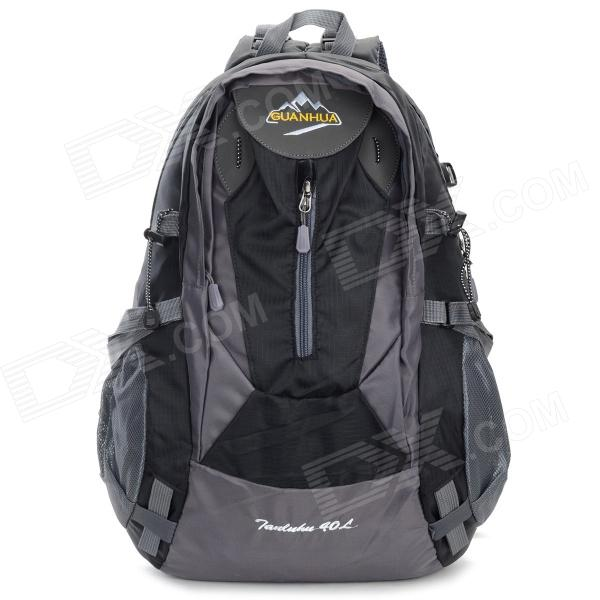 GUANHUA Outdoor Sports Nylon + Dacron Backpack - Black (40L)