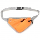 Outdoor Sports Close-fitting Water Bottle Waist Pack Bag w/ Zipper - Orange + Grey