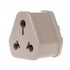 Yongjian 179 10A 2500W 3-Flat-pin to 15A Round Feet Power Plug Adapter Socket - Khaki (250V)
