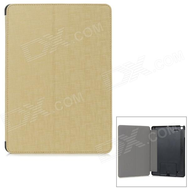 Luxury Gold Pattern Protective PU Leather + ABS Full Body Case w/ Stand for IPAD 5 - Golden + Black
