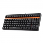 Rapoo V500 USB 2.0 Kablet 92-Nøkkel Mekanisk Gaming Keyboard - Svart + Orange