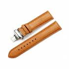 CHIMAERA CY-C-22-BK50 22mm Cow Leather Replacement Watch Band Strap - Brown