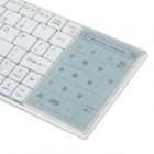 Mini Bluetooth V3.0 80-Key Keyboard w/ Touchpad for IPAD + More - White