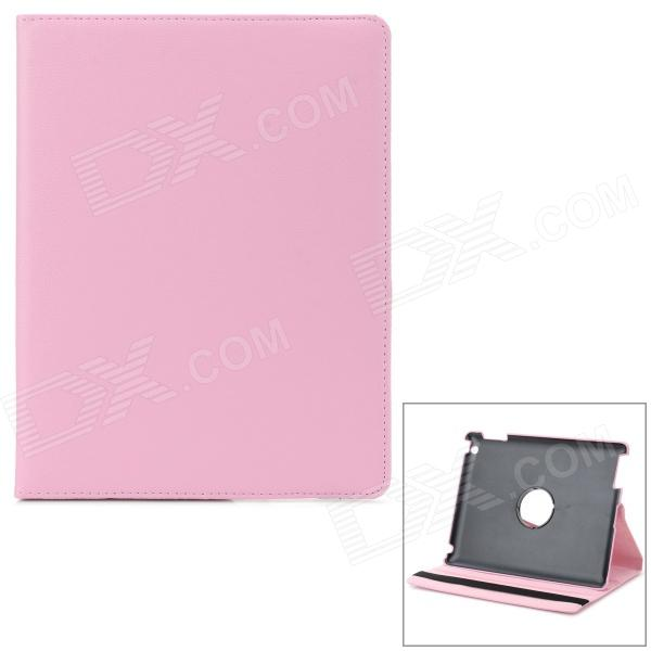 Lichee Pattern Protective PU + PC Full Body Case w/ Stand for IPAD AIR / 2 / 3 / 4 - Pink чехол для сотового телефона araree для j5 prime silver ar20 00193b