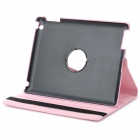 Lichee Pattern Protective PU + PC Full Body Case w/ Stand for IPAD AIR / 2 / 3 / 4 - Pink