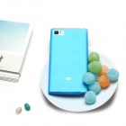 Stylish Thin Matte Silicone Back Case for Xiaomi M3 - Blue