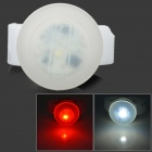 DOSUN RDE80 2-LED 13lm 5-Mode Warm White / Red Bicycle Headlight Warning Light - White (2 x CR2032)