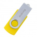 Ourspop U016 Giratoria USB 2.0 Flash Drive w / Indicador - Amarillo + Plata (32 GB)